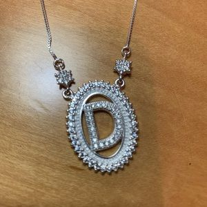 Jewelry - Real silver letter D necklace